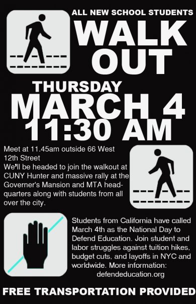 New School Walkout March 4th